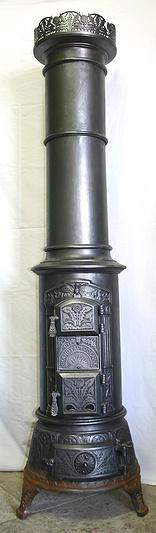 antiker d nischer s ulenofen brandt co odense von 1910. Black Bedroom Furniture Sets. Home Design Ideas