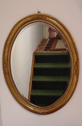 salonspiegel antiker spiegel oval facettenschliff art deko. Black Bedroom Furniture Sets. Home Design Ideas